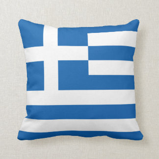The Flag of Greece Throw Pillow