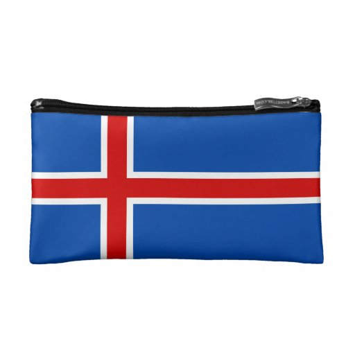 The Flag of Iceland Makeup Bag