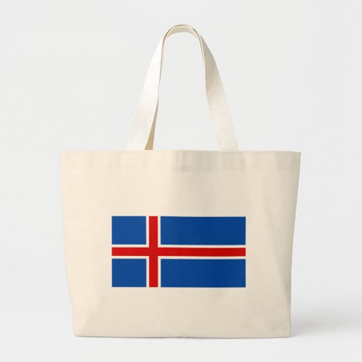The Flag of Iceland Tote Bags