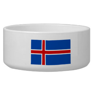 The Flag of Iceland Bowl