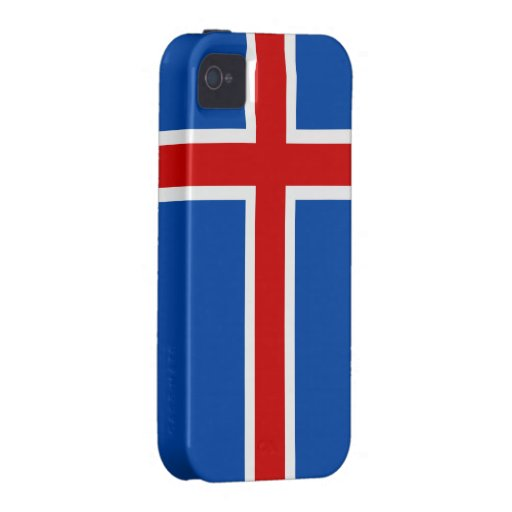 The Flag of Iceland iPhone 4 Cases