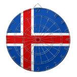 The Flag of Iceland Dartboards