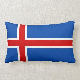 The Flag of Iceland Lumbar Pillow