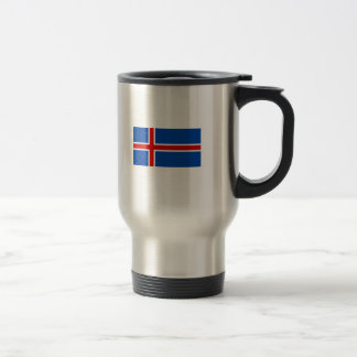 The Flag of Iceland 15 Oz Stainless Steel Travel Mug
