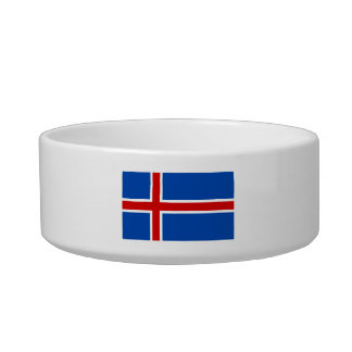 The Flag of Iceland Pet Water Bowls
