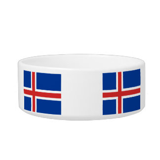 The Flag of Iceland Pet Bowl
