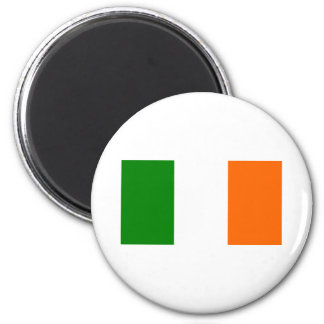 The Flag of Ireland 2 Inch Round Magnet