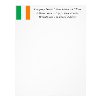 The Flag of Ireland, Irish Tricolour Letterhead