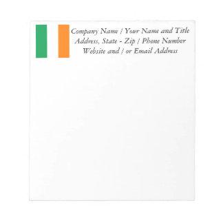 The Flag of Ireland, Irish Tricolour Notepad