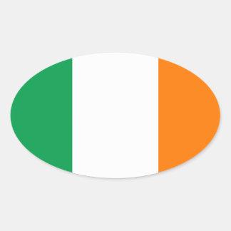 The Flag of Ireland, Irish Tricolour Oval Sticker