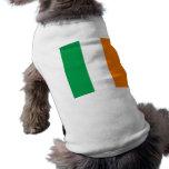 The Flag of Ireland, Irish Tricolour Doggie Tee Shirt