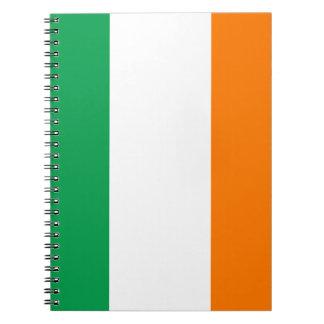 The Flag of Ireland, Irish Tricolour Spiral Notebook
