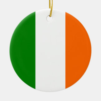 The Flag of Ireland Double-Sided Ceramic Round Christmas Ornament