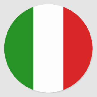 The Flag of Italy Classic Round Sticker