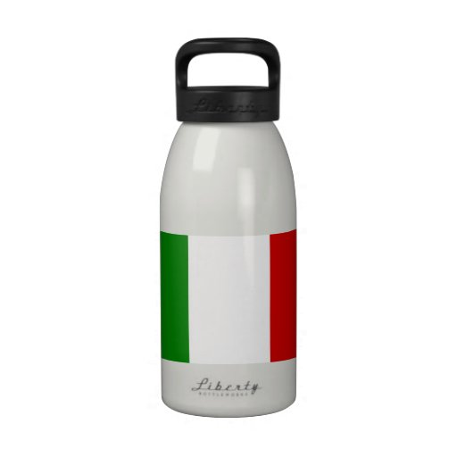 The Flag of Italy Drinking Bottles