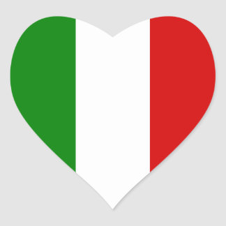 The Flag of Italy Heart Sticker