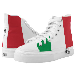 The Flag of Italy High-Top Sneakers