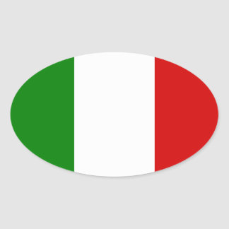 The Flag of Italy Oval Sticker