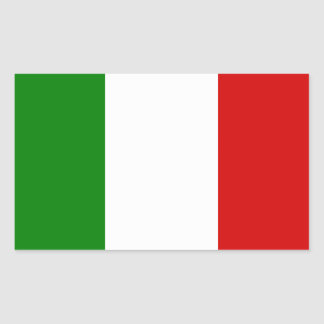 The Flag of Italy Rectangular Sticker