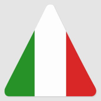 The Flag of Italy Triangle Sticker