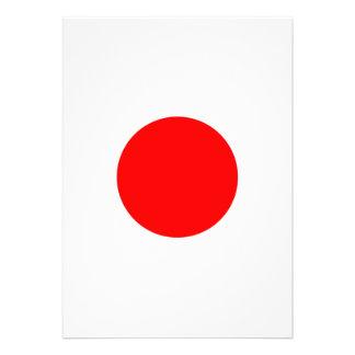 The Flag of Japan Custom Invitations
