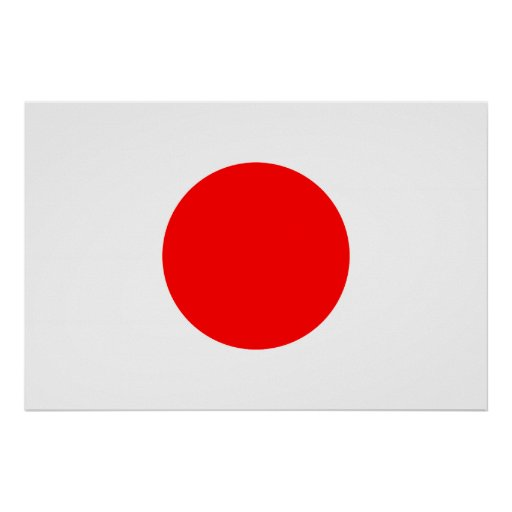 The Flag of Japan Poster