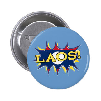 The flag of Laos 2 Inch Round Button