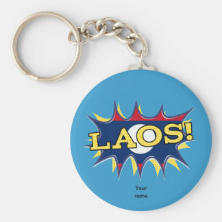 The flag of Laos Keychain
