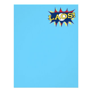 The flag of Laos Letterhead