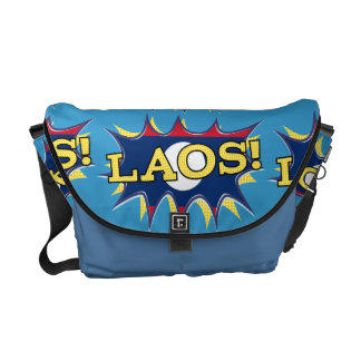 The flag of Laos Courier Bag