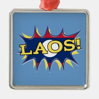 The flag of Laos Metal Ornament