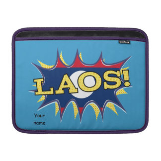 The flag of Laos Sleeve For MacBook Air