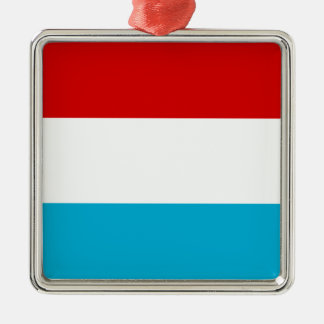 The Flag of Luxembourg Metal Ornament
