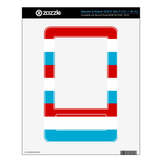 The Flag of Luxembourg Skins For The NOOK