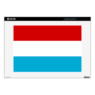 """The Flag of Luxembourg 15"""" Laptop Decal"""