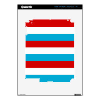 The Flag of Luxembourg iPad 3 Decals