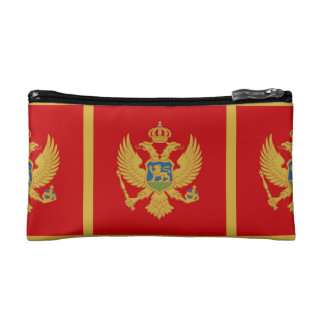 The Flag of Montenegro Cosmetic Bag