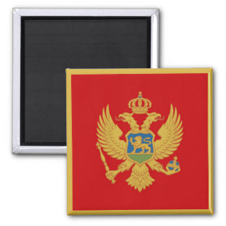 The Flag of Montenegro Magnet