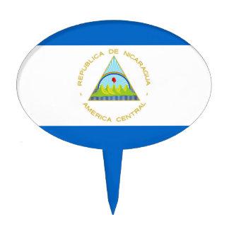 The Flag of Nicaragua - Latin America Cake Picks