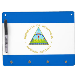 The Flag of Nicaragua - Latin America Dry Erase Board With Keychain Holder