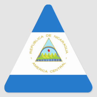 The Flag of Nicaragua - Latin America Triangle Sticker