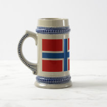 The Flag of Norway Beer Stein