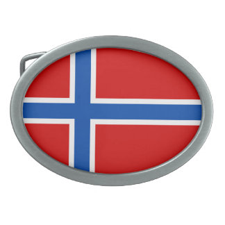 The Flag of Norway Oval Belt Buckle
