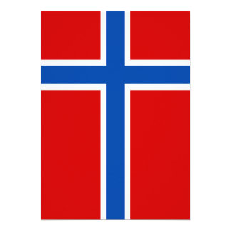 """The Flag of Norway 5"""" X 7"""" Invitation Card"""