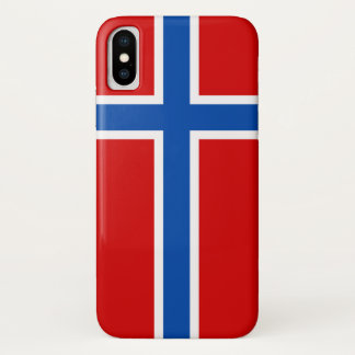 The Flag of Norway iPhone X Case