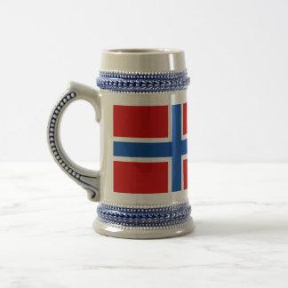 The Flag of Norway 18 Oz Beer Stein