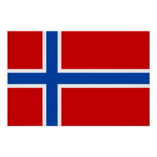 The Flag of Norway Print