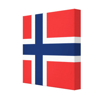 The Flag of Norway - Scandinavia Canvas Print