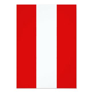 The Flag of Peru Card