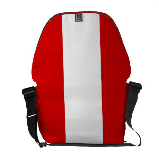 The Flag of Peru Courier Bags